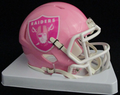 Oakland Raiders Pink Mini Speed Helmet