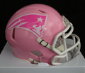 New England Patriots Pink Mini Speed Helmet