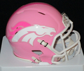 Denver Broncos Pink Mini Speed Helmet
