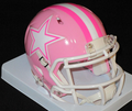 Dallas Cowboys Pink Mini Speed Helmet