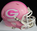Green Bay Packers Pink Mini Speed Helmet