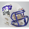 Texas Christian University TCU Horned Frogs Chrome Decal Mini Speed Helmet