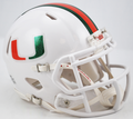 Miami Hurricanes Metallic Logo Mini Speed Helmet