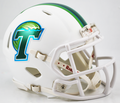 Tulane Green Wave Matte White Mini Speed Helmet