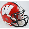 Wisconsin Badgers Red with Black Mask Mini Speed Helmet