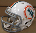 Miami Dolphins 1966 Tribute Mini Speed Football Helmet