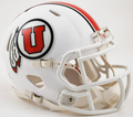 Utah Utes Matte White 2015 Mini Speed Football Helmet