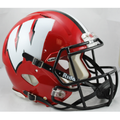 Wisconsin Badgers Red with Black Mask Authentic Speed Helmet