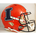 Illinois Fighting Illini Orange with Navy I Authentic Speed Helmet