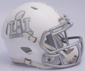 Super Bowl 51 LI NFL Riddell Matte White Ice Mini Speed Football Helmet