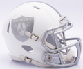 Oakland Raiders NFL Riddell Ice Mini Speed Football Helmet