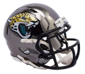 "2018 ""CHROME"" Edition JACKSONVILLE JAGUARS NFL Riddell SPEED Mini Football Helmet"