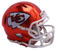 "2018 ""CHROME"" Edition KANSAS CITY CHIEFS NFL Riddell SPEED Mini Football Helmet"