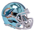 "2018 ""CHROME"" Edition MIAMI DOLPHINS NFL Riddell SPEED Mini Football Helmet"