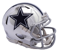 "2018 "" CHROME "" DALLAS COWBOYS NFL  FULL SIZE SPEED REPLICA HELMET"