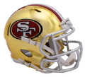 "2018 ""CHROME"" SAN FRANCISCO 49ERS   FULL SIZE SPEED REPLICA HELMET"