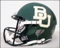Baylor Riddell Green Mini Speed Revolution Football Helmet