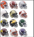 Big 10 Conference 12pc Mini Replica Speed Helmet Set