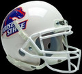 Boise St. Broncos White w/regular Logo Mini Authentic Schutt Helmet