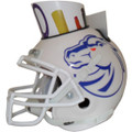 Boise State Broncos Mini Football Helmet Desk Caddy White
