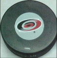 Carolina Hurricanes NHL Logo Puck