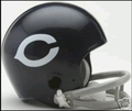 Chicago Bears 1962-1973 2-Bar Replica Throwback Mini Helmet