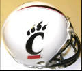 Cincinnati Bearcats Alternate White Riddell NCAA Replica Mini Helmet