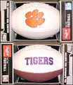 Clemson Tigers Full Size Signature Embroidered Series Football