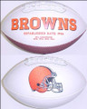 Cleveland Browns Full Size Logo Football