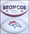 Denver Broncos Full Size Logo Football