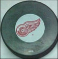 Detroit Red Wings NHL Logo Puck