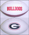Georgia Bulldogs Full Size Signature Embroidered Series Football