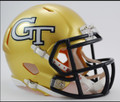 Georgia Tech Riddell Mini Speed Revolution Football Helmet