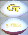 Georgia Tech Yellow Jackets Full Size Signature Embroidered Football