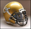 Georgia Tech Yellow Jackets Mini Authentic Schutt Helmet
