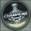 2009 Pittsburgh Penguins Stanley Cup Champions Logo Puck