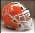 Illinois Fighting Illini Full Size Replica Schutt Helmet