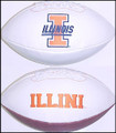 Illinois Fighting Illini Full Size Signature Embroidered Football