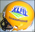 2009 Super Bowl XLIII 43 Steelers Champion Gold Mini Replica Helmet