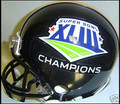2009 Super Bowl XLIII 43 Steelers Champion Black Mini Replica Helmet