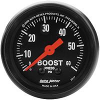 Autometer Z-Series 0-60PSI Boost Gauge