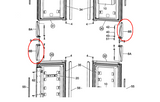 Dometic Refrigerator Door Handle (LL & UR) 3851057012