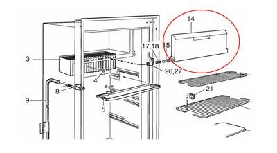 Dometic Door Flapper Assembly 2932650019