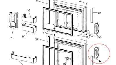 Dometic Refrigerator Door Handle 3851047021