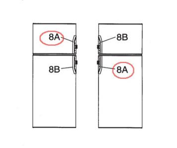 Dometic Refrigerator Door Handle 3851047021 -
