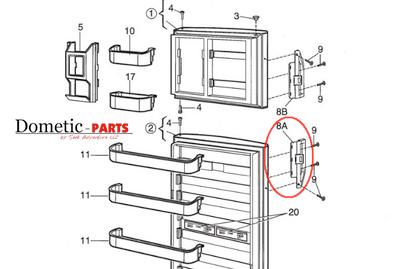 Dometic Parts Door Handle 3850558010