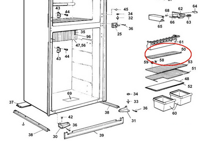 Dometic Fridge Freezer Shelf 2002652416