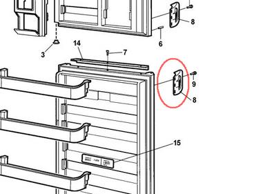 Dometic Single Molded Refrigerator Handle (Beige) 3851174015