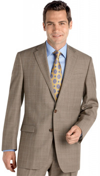 Men's Lauren by Ralph Lauren Plaid Suit - Tan