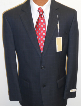 Men's Michael Kors Plaid Suit - Navy